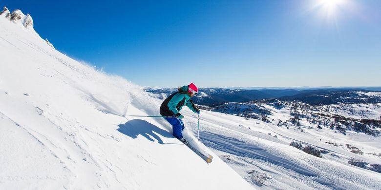 Perisher Mountain merupakan salah satu destinasi wisata saat musim dingin di Australia.