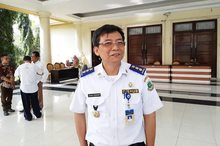 Sekretaris Dinas Perhubungan Provinsi Banten, Herdi Jauhari ditemui di Kantor Gubernur Banten, Senin (27/5/2019)