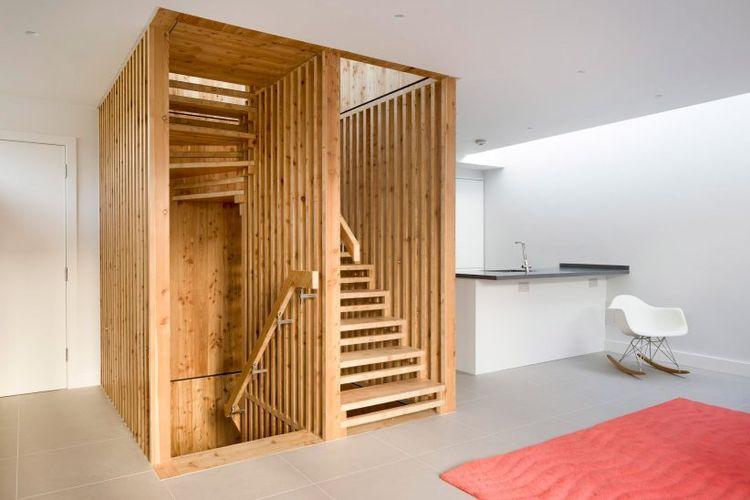 desain tangga minimalis yang cocok untuk ruangan sempit.