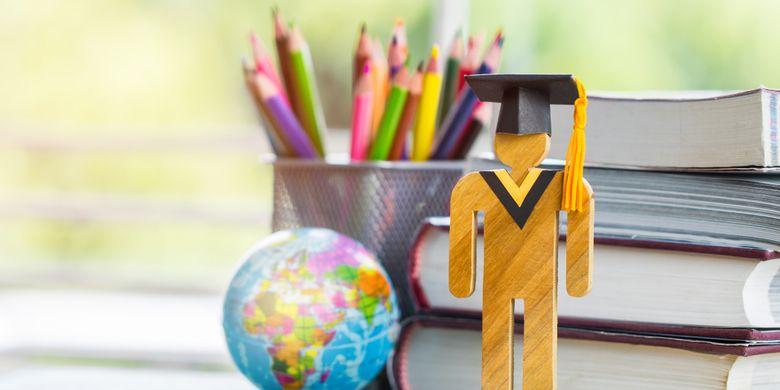 Ilustrasi kuliah di luar negeri.