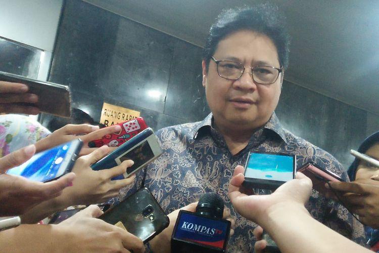 Ketua Umum Partai Golkar, Airlangga Hartarto di Kompleks Parlemen, Senayan, Jakarta, Kamis (13/6/2019)