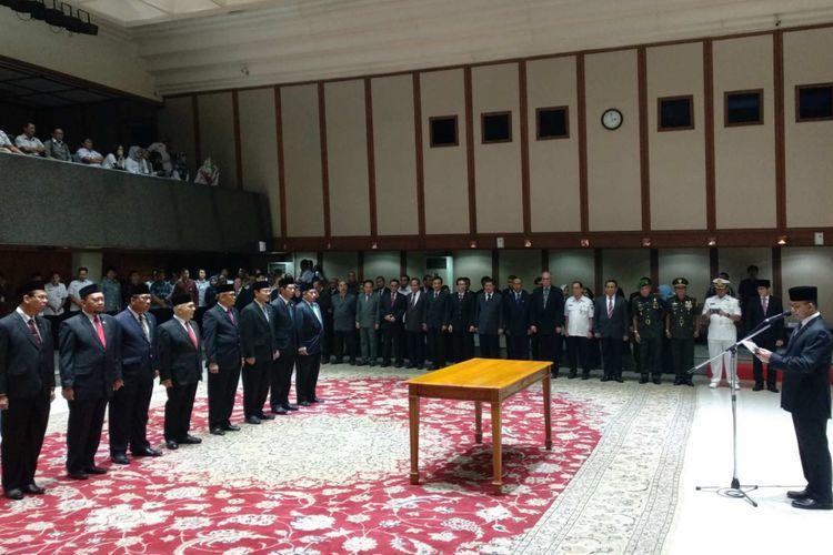 Pelantikan pejabat di lingkungan Pemprov DKI Jakarta, Rabu (10/1/2018)
