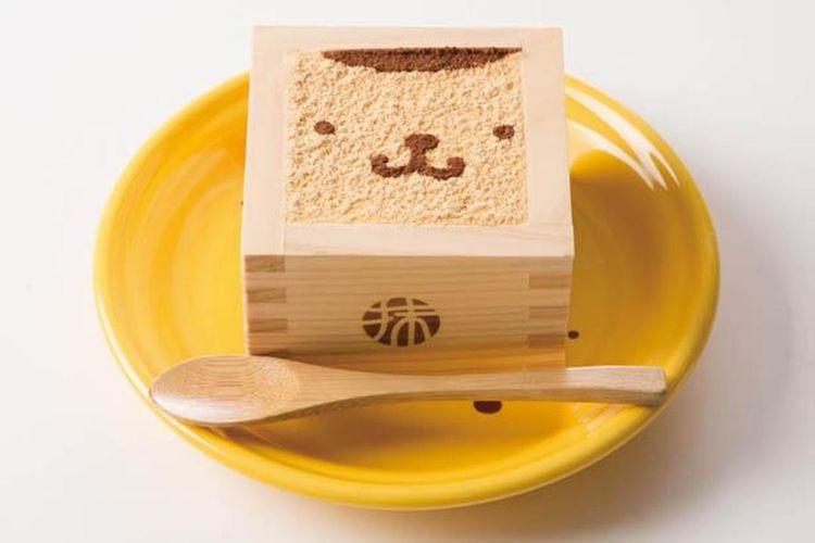 Menu Pompompurin Kinako Tiramisu (594 yen)
