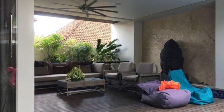 Suasana Villa Balimu di Seminyak, Kabupaten Badung, Bali, 12 Oktober 2017. Harga menginap semalam di vila ini berkisar hingga Rp 10 juta lebih.