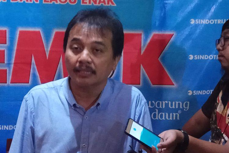 Wakil Ketua Umum Partai Demokrat Roy Suryo usai diskusi di bilangan Cikini, Jakarta Pusat, Sabtu (20/5/2017).