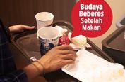 Budaya Bereskan Sampah Bekas Makanan Sendiri di Restoran Cepat Saji Lumrah di Luar Negeri