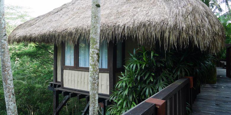 Fasilitas di residence tejasuara terinspirasi dari budaya Sumba di Como Shambhala Estate, Ubud, Bali, Jumat (15/12/2017).