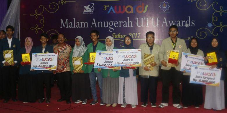 Sebanyak 523 tim mahasiswa dari seluruh Indonesia mengikuti kompetisi nasional 4th UTU Awards yang rutin digelar Universitas Teuku Umar (UTU) setiap tahun.