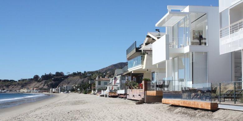 Rumah pantai David Geffen?s Carbon, Malibu, AS