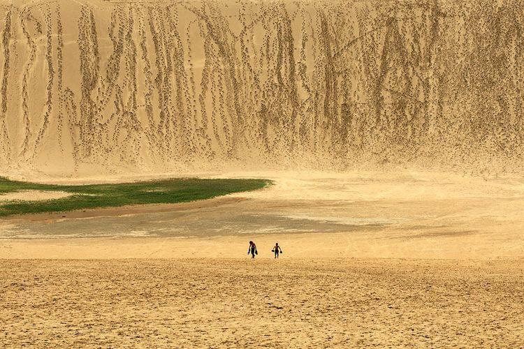 Gurun pasir di Tottori, Jepang.