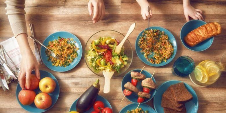 Ilustrasi makanan yang lebih sehat