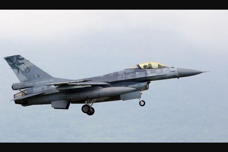 Pesawat jet tempur tipe F-16 milik Angkatan Udara Taiwan.