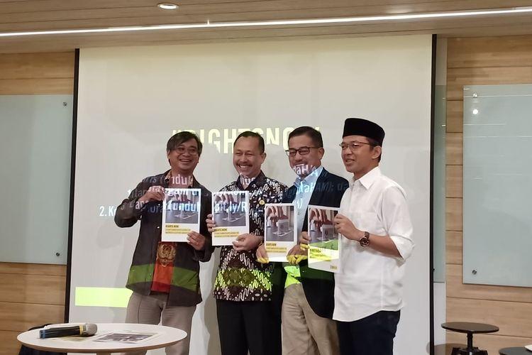 Komnas HAM di kantor Amnesty International, Jakarta Pusat, Senin (15/4/2019).