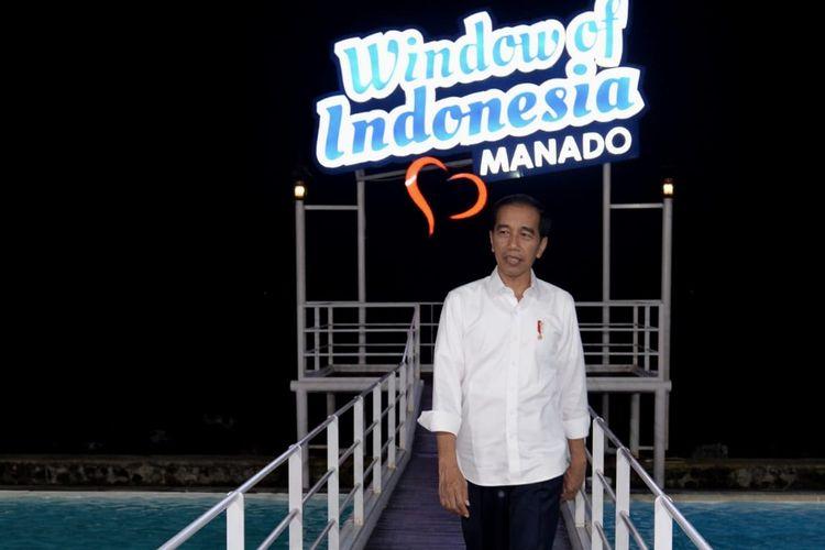 Presiden Jokowi mengunjungi Jendela Indonesia, yang berlokasi di Jalan Piere Tendean, Sario Tumpaan, Sario, Kota Manado, Jumat (5/7/2019).