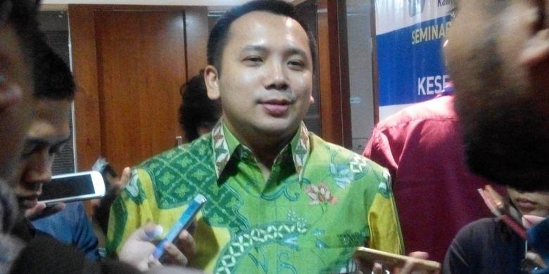 Gubernur Lampung M Ridho Ficardo pada konferensi pers Seminar Nasional Ikatan Sarjana Ekonomi Indonesia (ISEI) di Jakarta, Senin (9/10/2017).