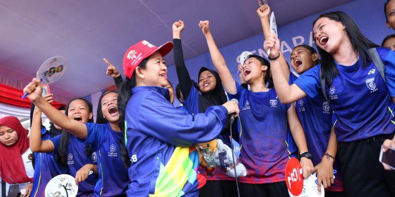 Lepas Jalan Sehat,  Puan Minta Warga Sukseskan Asian Games 2018