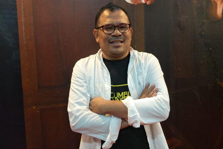 Sutradara Garin Nugoho dalam jumpa pers dan screening film Kucumbu Tubuh Indahku di XXI Plaza Indonesia, Thamrin Jakarta Pusat, Senin (15/4/2019).