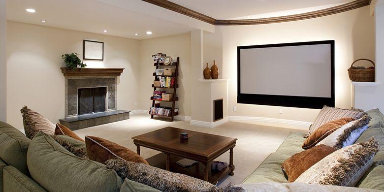 Tampilan gambar di layar lebar bisa dipindah ke rumah dengan satu set televisi berteknologi terbaru nan canggih.