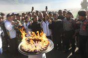 Api Obor Asian Games 2018 Berkobar di Puncak Gunung Bromo