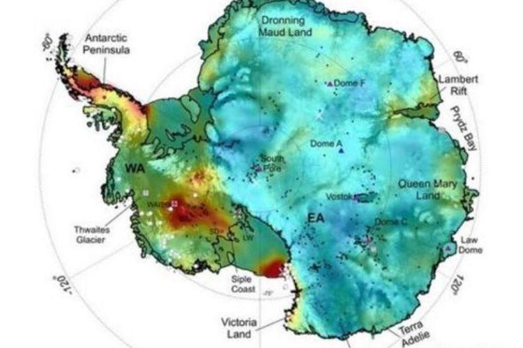 Peta panas antartika