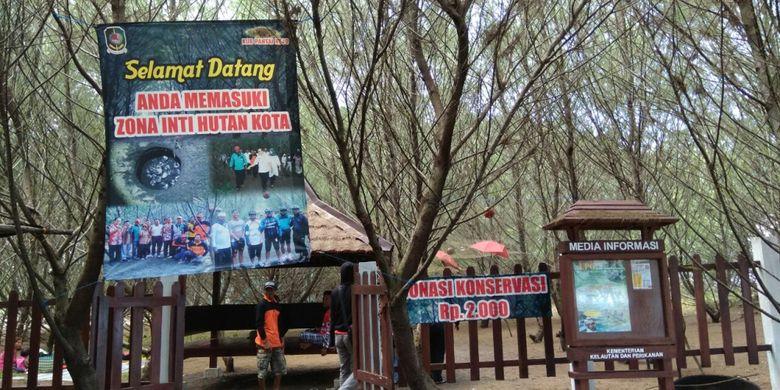 Zona Inti Hutan Kota di Pantai Cemara Banyuwangi