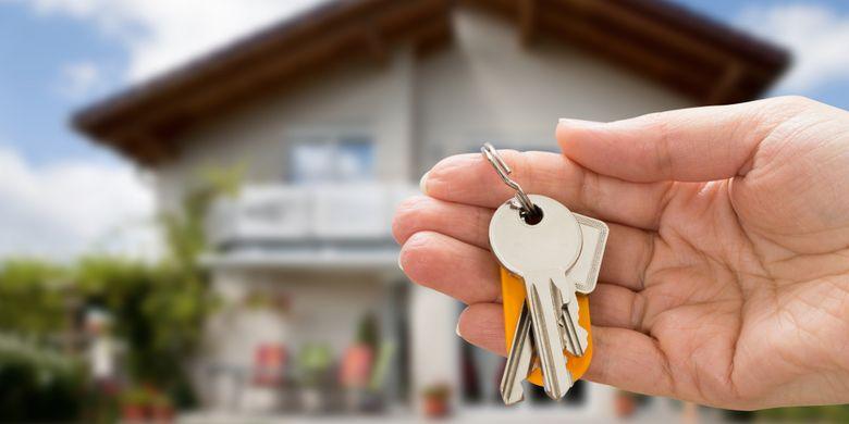 Ilustrasi mengganti kunci rumah baru