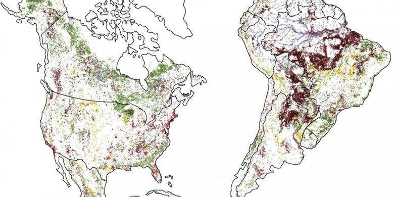 Peta perubahan daratan Bumi