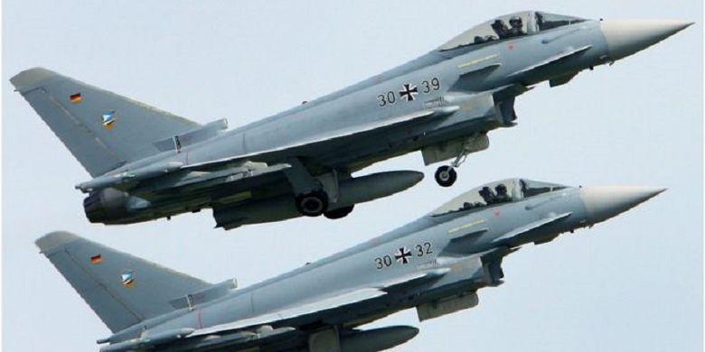 Dua jet tempur Eurofighter milik Jerman.