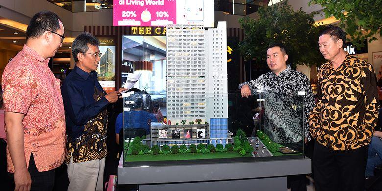 Peluncuran apartemen tower The Canary, tower kedua di proyek superblok yang dikembangkan PT Trimitra Propertindo di Jl Raya Serpong, Tangerang Selatan, dimulai Kamis (26/4/2018) sampai Selasa (1/5/2018) di Mall Living World, Alam Sutera, Tangerang.
