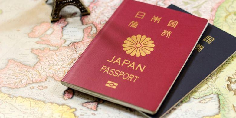 ILUSTRASI - paspor Jepang