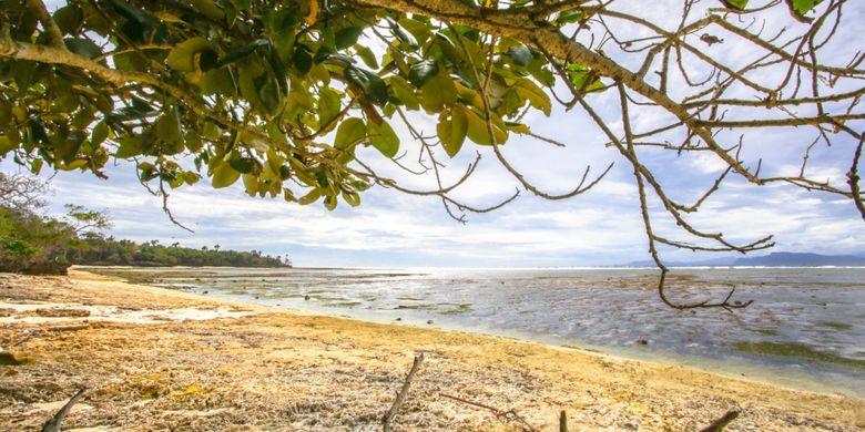 Pantai G Land yang terkenal dengan ombak yang tinggi dan cocok untuk surfing di Banyuwangi, Jawa Timur.