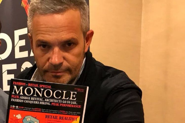 Tyler Brûlé dan Monocle. Gambar diambil pada Jumat (6/10/2017)