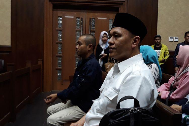 Bupati nonaktif Lampung Tengah, Mustafa di Pengadilan Tipikor Jakarta, Rabu (11/7/2018).