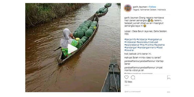 Video yang diunggah akun @garih_tauman milik Rasyid Ridha viral dan mendapatkan