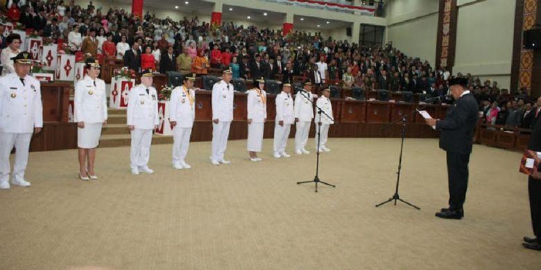 Gubernur Sulut Lantik 5 Kepala Daerah Terpilih