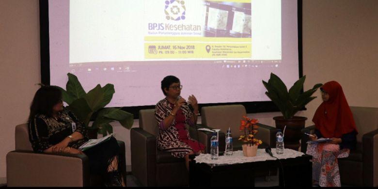UGM menggelar talkshow Tembakau dan BPJS Kesehatan di FKKMK UGM, Yogyakarta,  Jum?at (16/11/2018).
