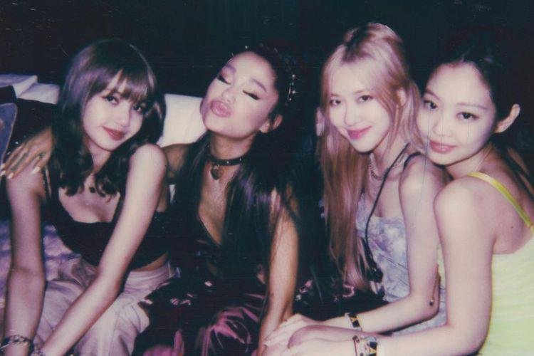 Ariana Grande dan para member BLACKPINK.