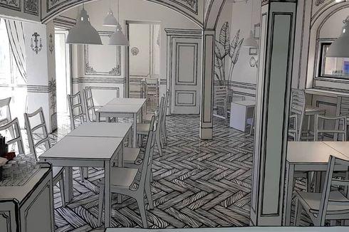 Ilusi Optik di Kafe Ini Bikin Anda Merasa Berada di Dunia Komik