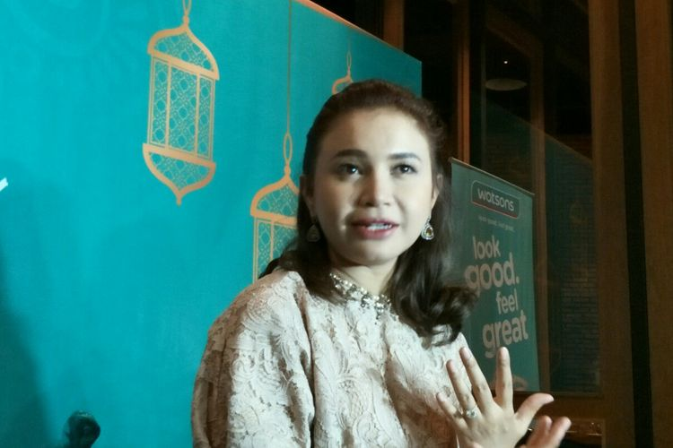 Penyanyi Rossa saat dijumpai dalam sebuah acara di kawasan Tebet, Jakarta Selatan, Kamis (13/6/2019).