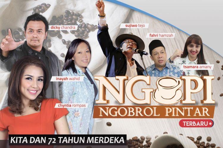Episode Pertama Ngopi, Ngobrol Pintar di KompasTV, Selasa (15/8/2017).