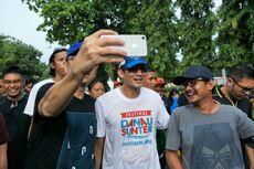 Bercucuran Keringat Usai Lari 5 Km, Sandiaga Tetap Mau Diajak