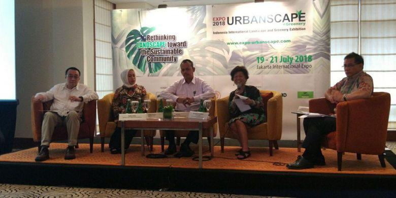Konferensi pers Urbanscape di Jakarta, Rabu (17/1/2018).