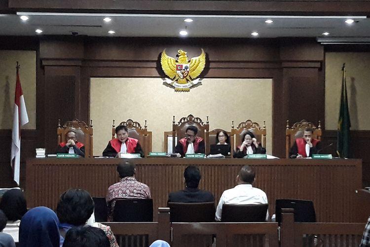 Sidang lanjutan untuk terdakwa Setya Novanto di Pengadilan Tipikor Jakarta, Kamis (1/2/2018).