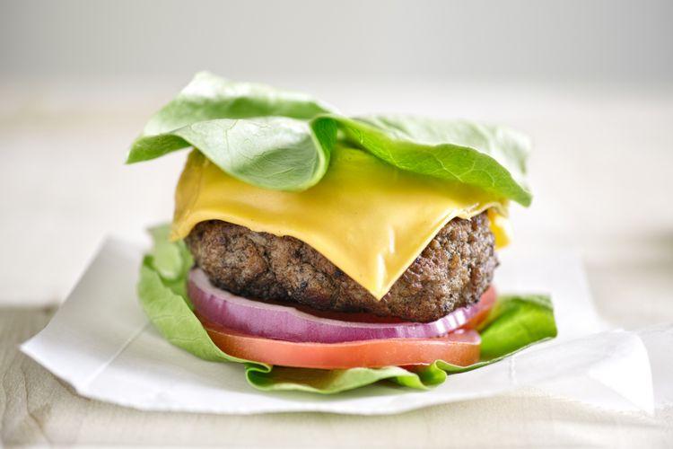 Ilustrasi burger tanpa roti