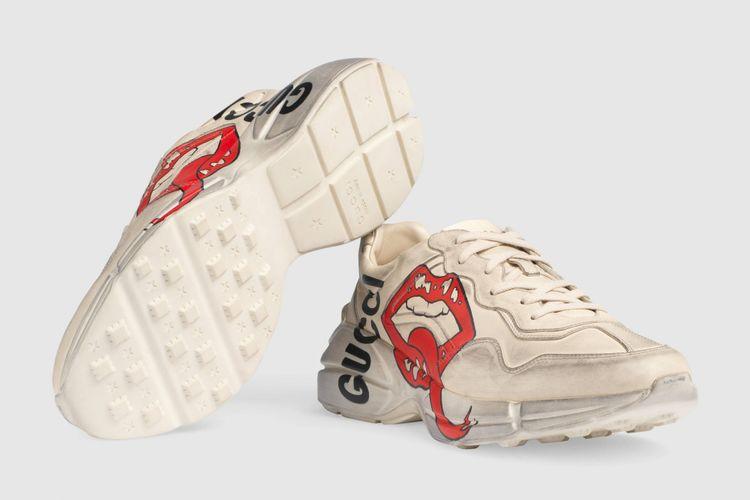 sepatu chunky dad Gucci, Rhyton(www.runnersworld.com)