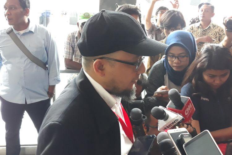 Penyidik KPK Novel Baswedan di Pengadilan Tipikor Jakarta, Kamis (10/1/2019).