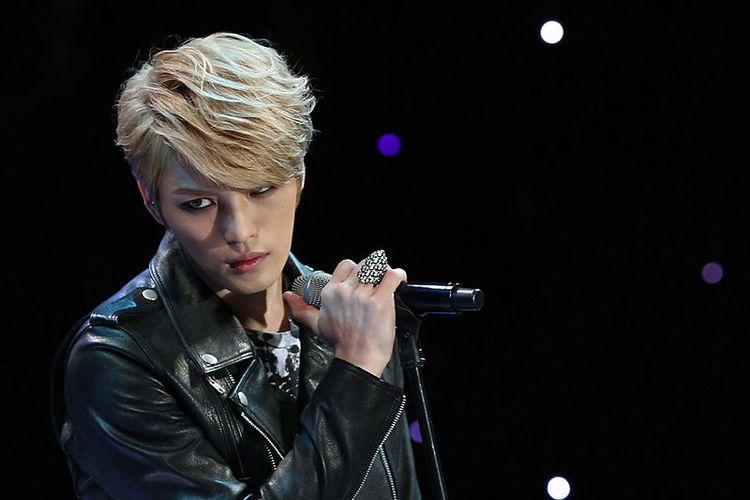 Penampilan Kim Jaejoong JYJ di  Korea President Park Arirang Concert 30 pada 27 Oktober 2013 di Nokjiwon Garden, Sheong Wa Dae, Seoul, Korea Selatan.