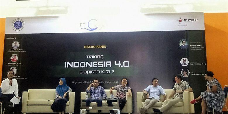 Seminar ?Making Indonesia 4.0, Siapkah Kita?? digelar alumni Institut Teknologi Bandung (ITB) angkatan ?94 bertempat di Aula Gedung CRCS, Kampus ITB, Bandung (9/3/2019).