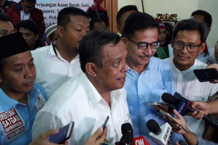 Ketua Tim Pemenangan pasangan capres-cawapres Prabowo Subianto dan Sandiaga Uno, Djoko Santoso di Gedung Joang 45, Jakarta Pusat, Jumat (23/11/2018).