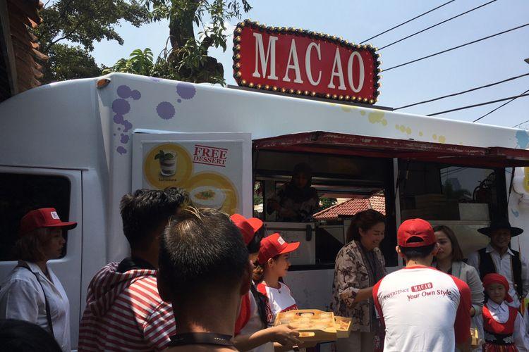 Pembukaan Food Truck Macao Roadshow di Kompas Gramedia, Bentara Budaya Jakarta, Jumat (7/9/2018).